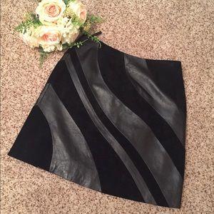 Cache 100% Leather Miniskirt